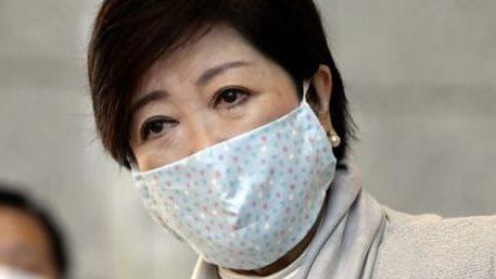 小池百合子都知事 手作り布マスク かわいい 画像 型紙 作り方 柄 生地